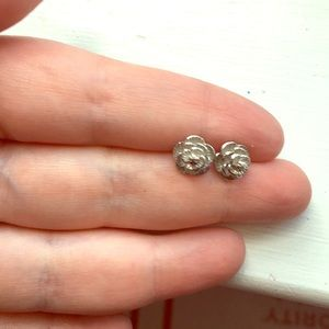 Lucky Brand floral silver stud earrings